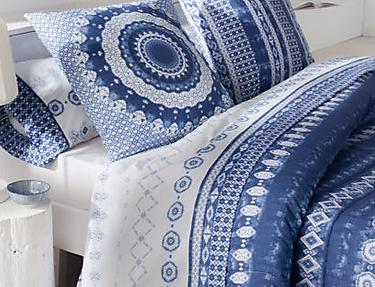 JVR - Juego de cama 100% algodón Mandala