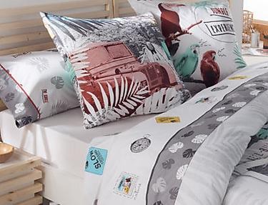 JVR - Juego de cama 100% algodón Jungle