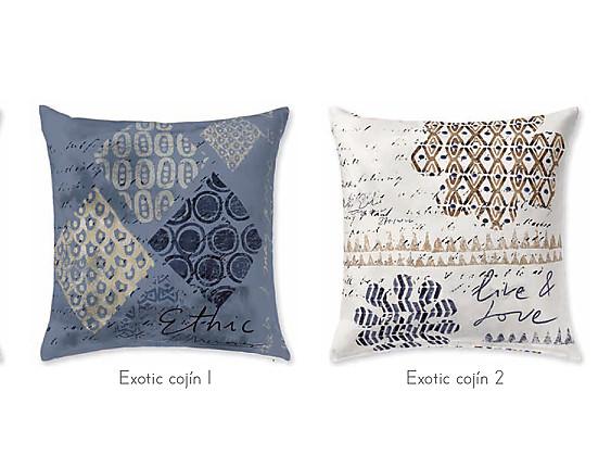JVR - Cojín 100% algodón Exotic