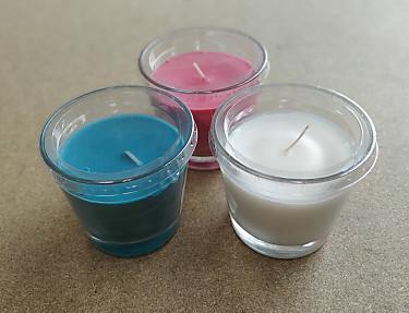 Nuestros Productos - Vela perfumada en vaso aroma Island Breeze color azul
