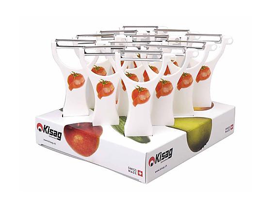 Nuestros Productos - Pelador tomates Kisag Swiss Made Blanco