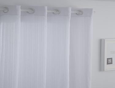 Orian - Cortina Visillo con ollaos Orian Rayas