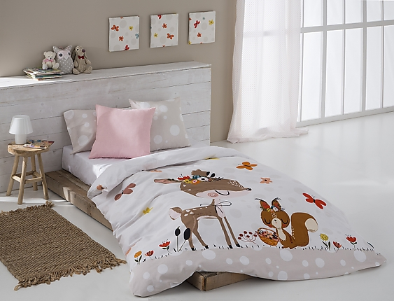 Sansa - Funda nórdica 100% Algodón Bambi