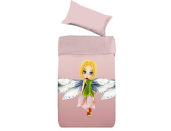 Denisa Home - Funda Nórdica para cuna-cama Hada rosa 3D