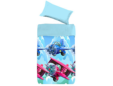 Denisa Home - Funda nórdica aviones Fly 3D