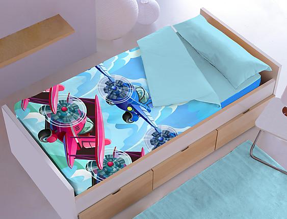 Denisa Home - Saco nórdico aviones Fly 3D