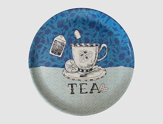 Nuestros Productos - Bandeja redonda melamina Tea