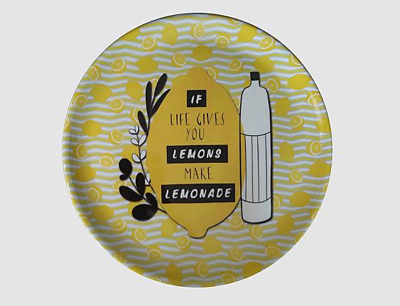 Nuestros Productos - Bandeja redonda melamina Yellow