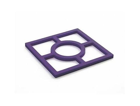 Ibili - Salvamanteles silicona Púrpura