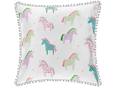 Cañete - Cojín con relleno Unicorn madroño