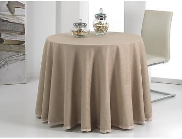 Cañete - Mantel falda mesa camilla circular Cusmo