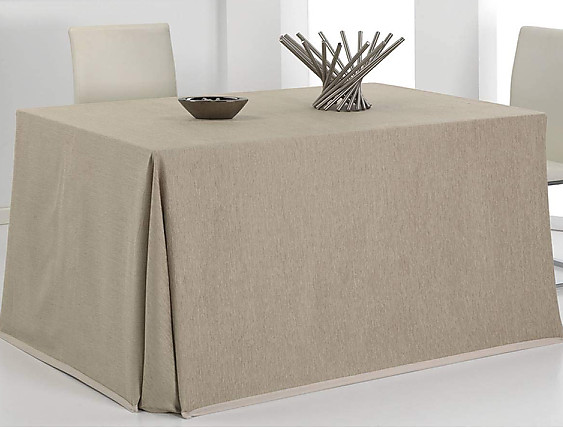 Cañete - Mantel falda mesa camilla rectangular Cusmo