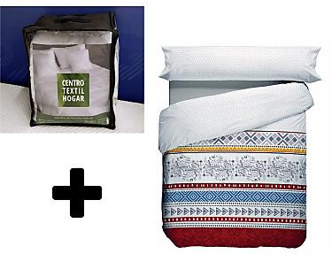 Nuestros Productos - Kit cama completa oferta (Funda nórdica Corbin + edredón duvet plumón)