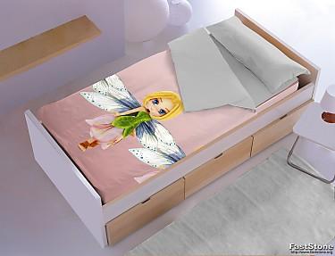 Denisa Home - Saco nórdico invierno interior coralina Hada rosa 3D