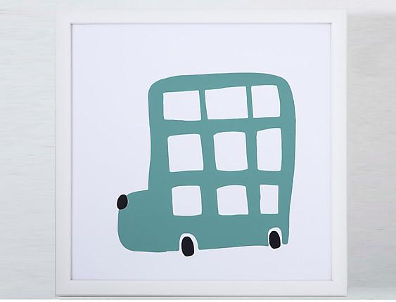 Confecciones Paula - Cuadro infantil Coche 1 (Azul)