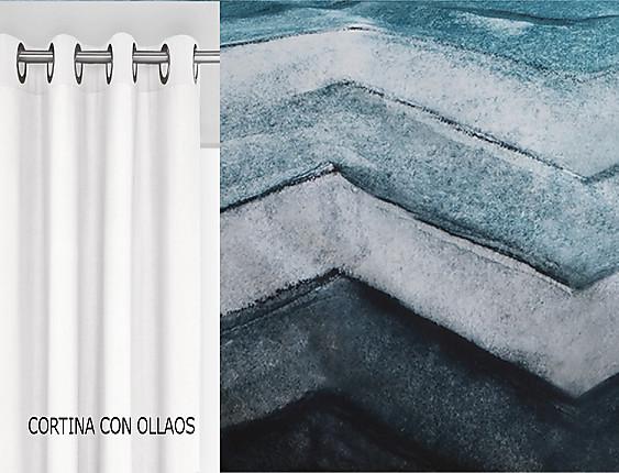 Confecciones Paula - Cortina con ollaos Dresde