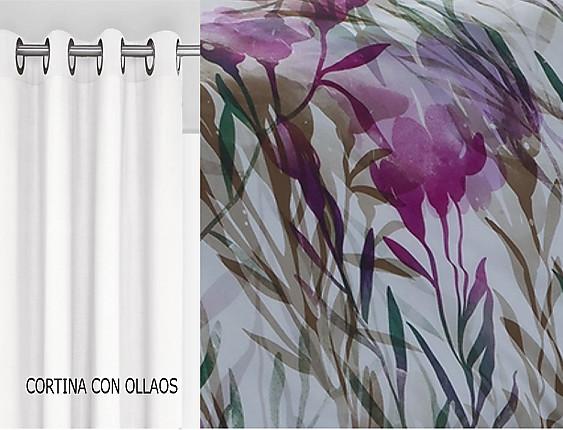 Confecciones Paula - Cortina con ollaos Tula