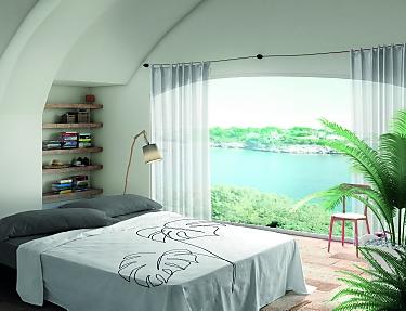Euromoda - Juego de cama 100% Algodón Blanca