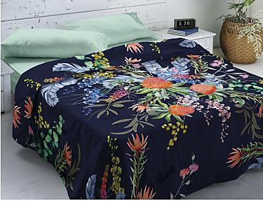 Euromoda - Juego de cama 100% Algodón Proteas