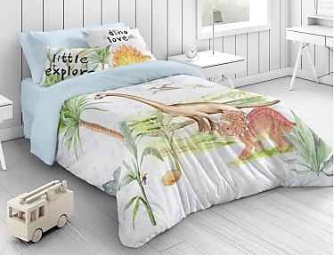 Euromoda - Funda nórdica 100% algodón Dinosaure