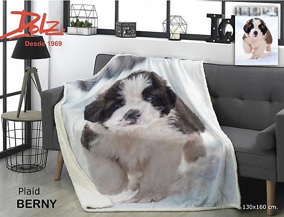Dolz - Manta Plaid sedalina y borreguito con perrito Berny
