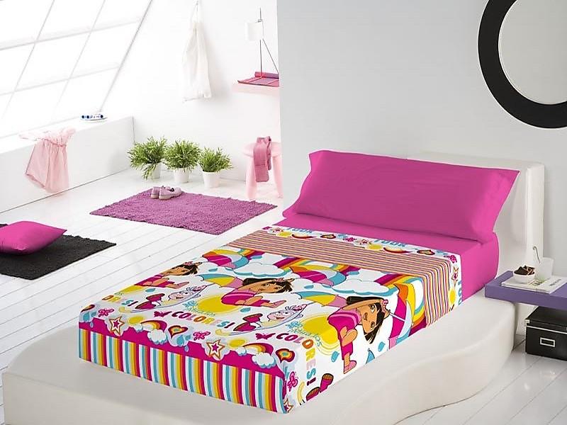 Euromoda - Juego de cama Dora Rainbow