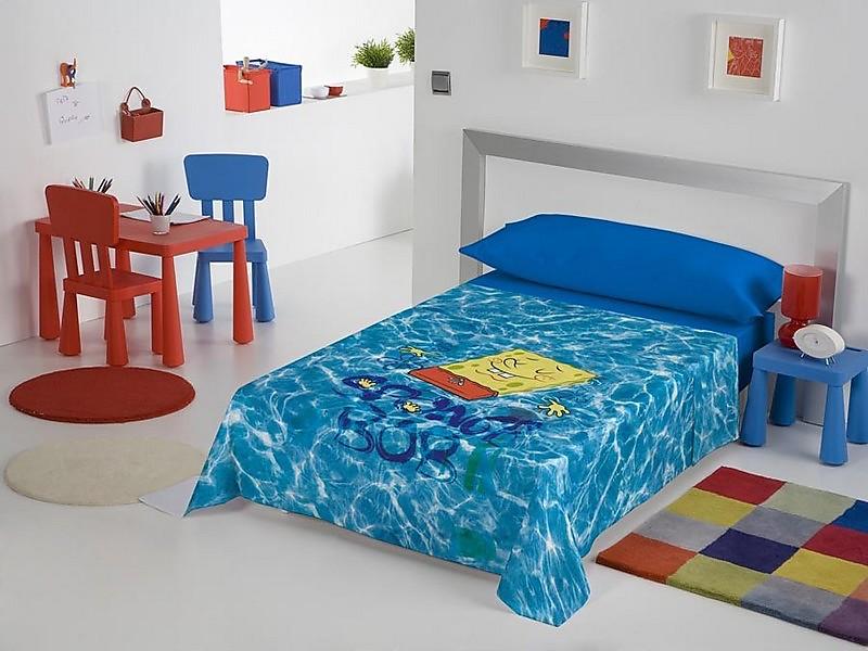 Euromoda - Juego de cama Bob Esponja Pool