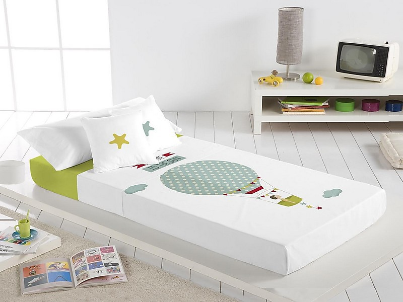 Euromoda Naturals - Juego de cama 100% Algodón Chica Globo