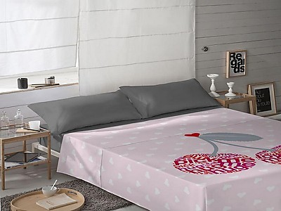 Euromoda - Juego de cama 100% Algodón Cherries