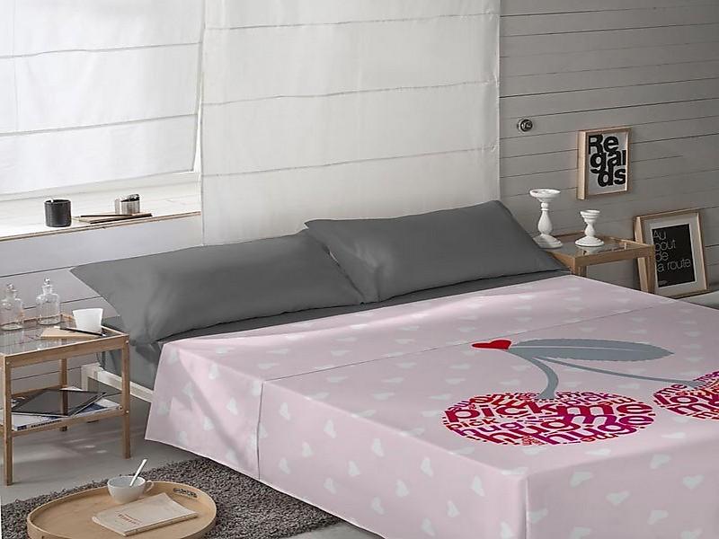 Euromoda Naturals - Juego de cama 100% Algodón Cherries