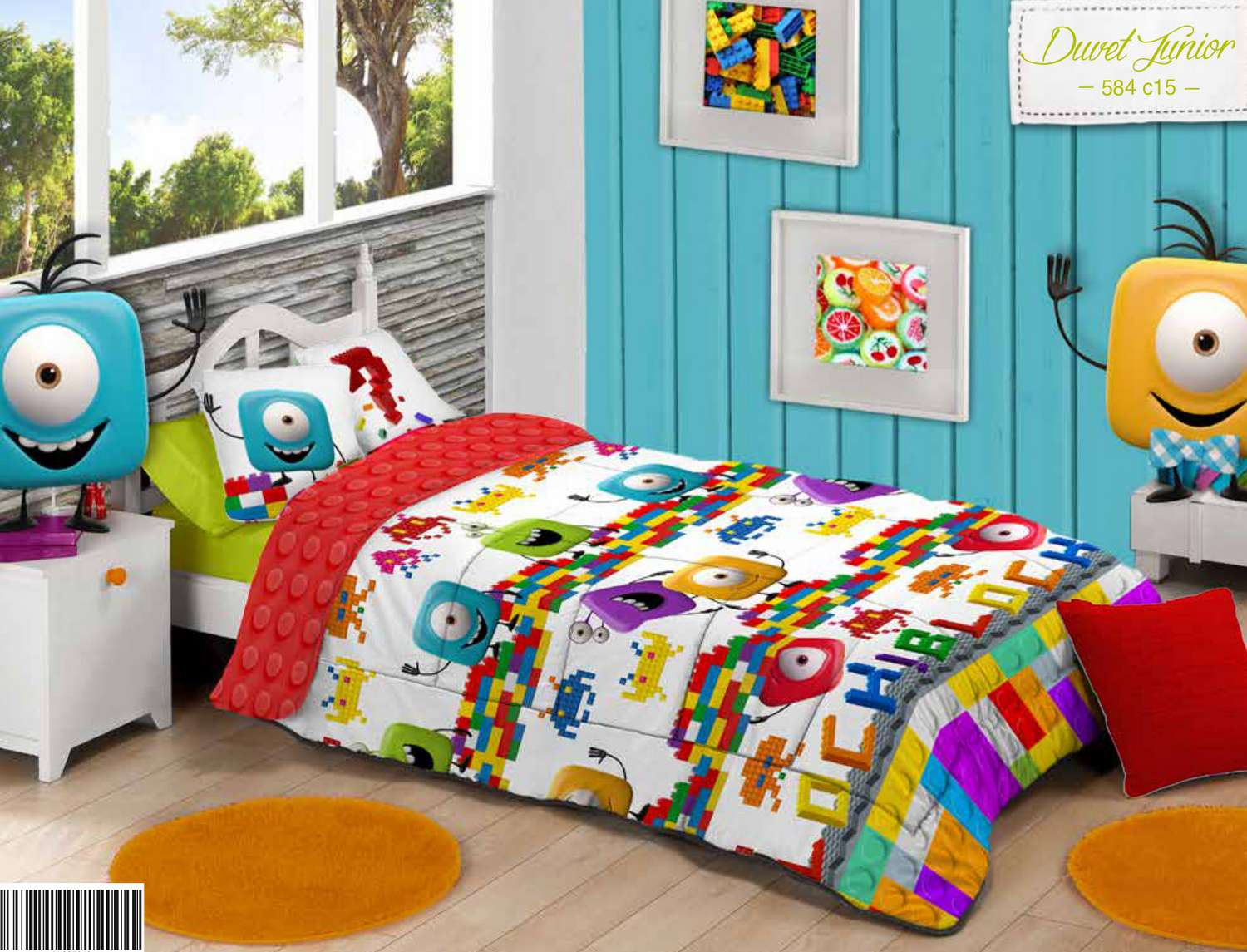 Manterol Duvet Junior Reversible Bloques 584