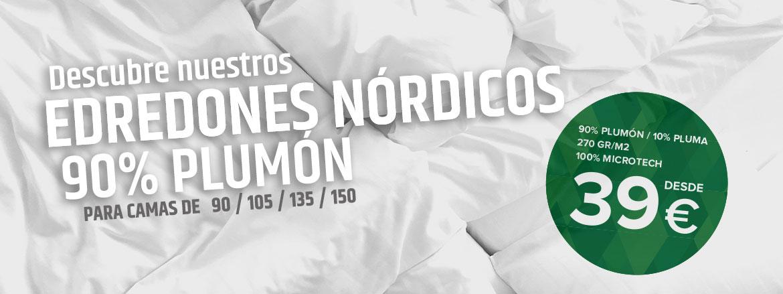 Edredón nórdico 90% Plumón